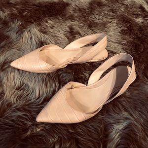 ZARA pale pink sling back Flats sz 10